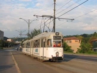 tramvaiele la Reșița