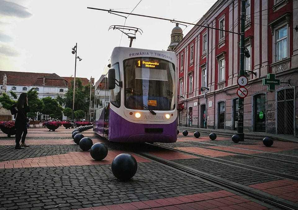 tramvai la Timișoara