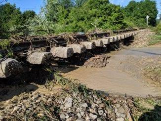 cale ferată inundată
