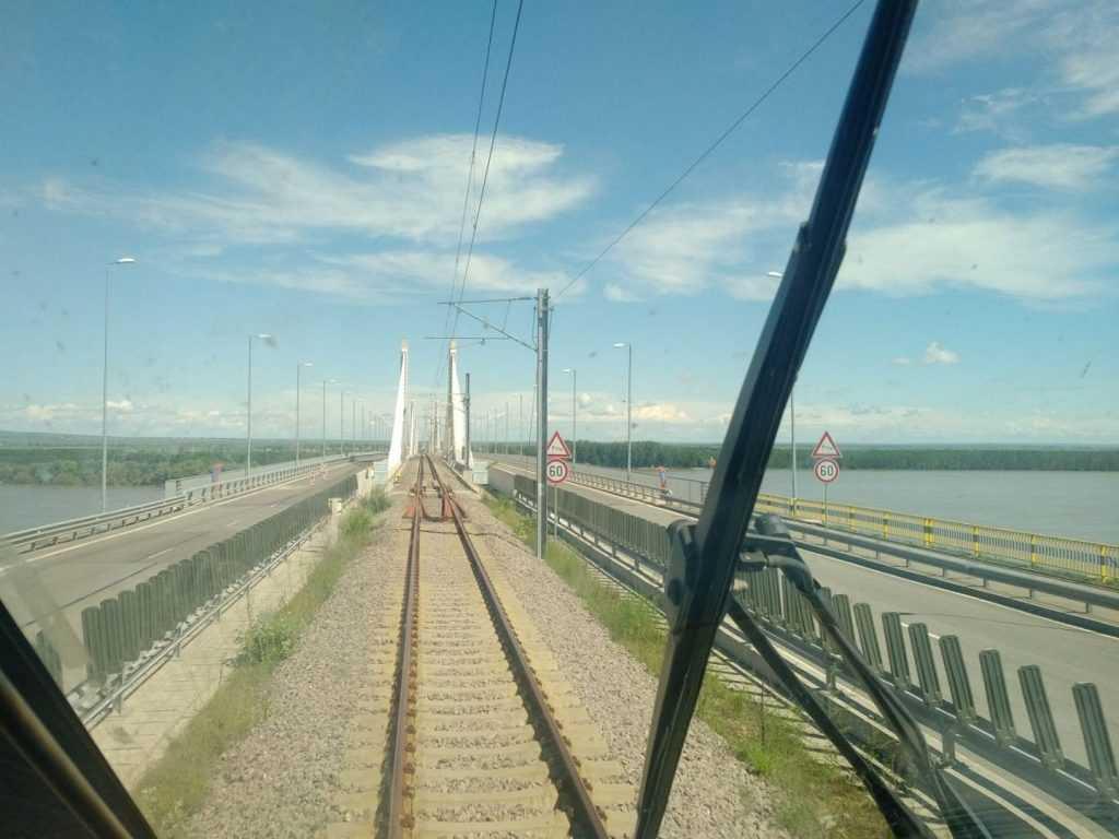 modernizarea căii ferate Craiova-Calafat primul tren internațional viteza de circulație CFR Podul Calafat-Vidin