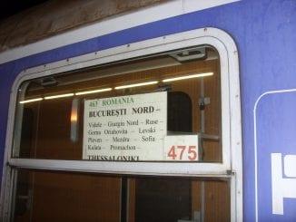 cu trenul la Salonic