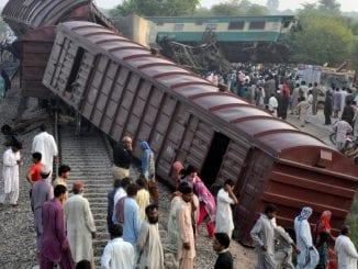 accident feroviar în Pakistan