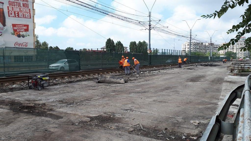 lucrările pe linia tramvaiului 41