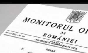 acte normative din domeniul feroviar rectificarea bugetară în Monitorul Oficial