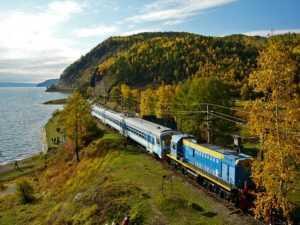 cu trenul în Rusia