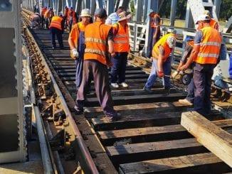 calea ferată Medgidia-Tulcea șantiere feroviare