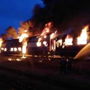 incendiul trenului IR 1825