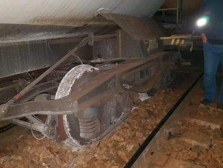 tren de marfă a deraiat deraiere la Valea Albă