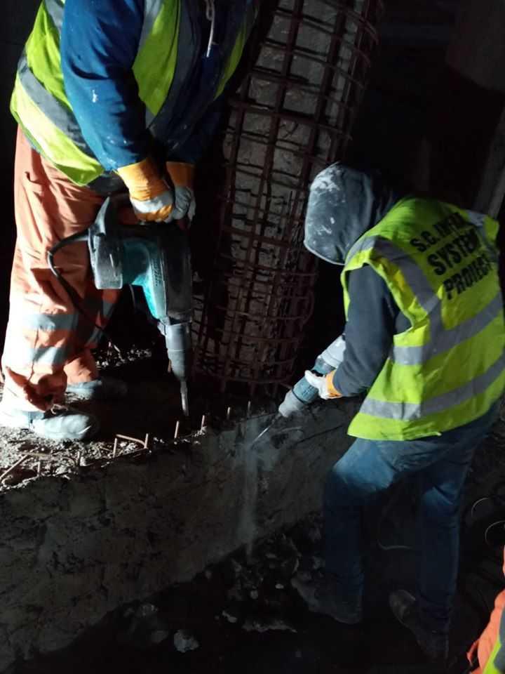 lucrările la Podul Constanța