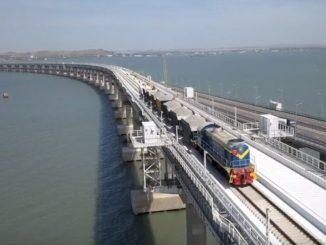podul spre Crimeea deschiderea podului Rusia-Crimeea