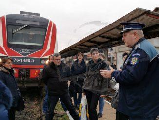 protest în gara Satu Mare