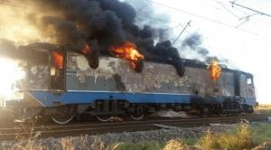 incendii pe calea ferată