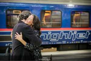 Anul european al căilor ferate tren de noapte Viena-Bruxelles