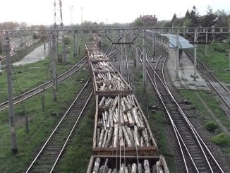 tren cu lemn vagoane cu lemn din Cehia