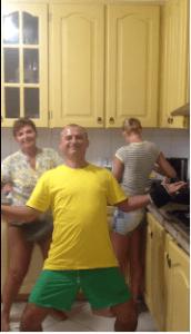 Costel Comana, la distractie cu șeful Tel Drum și cu familiile în Brazilia
