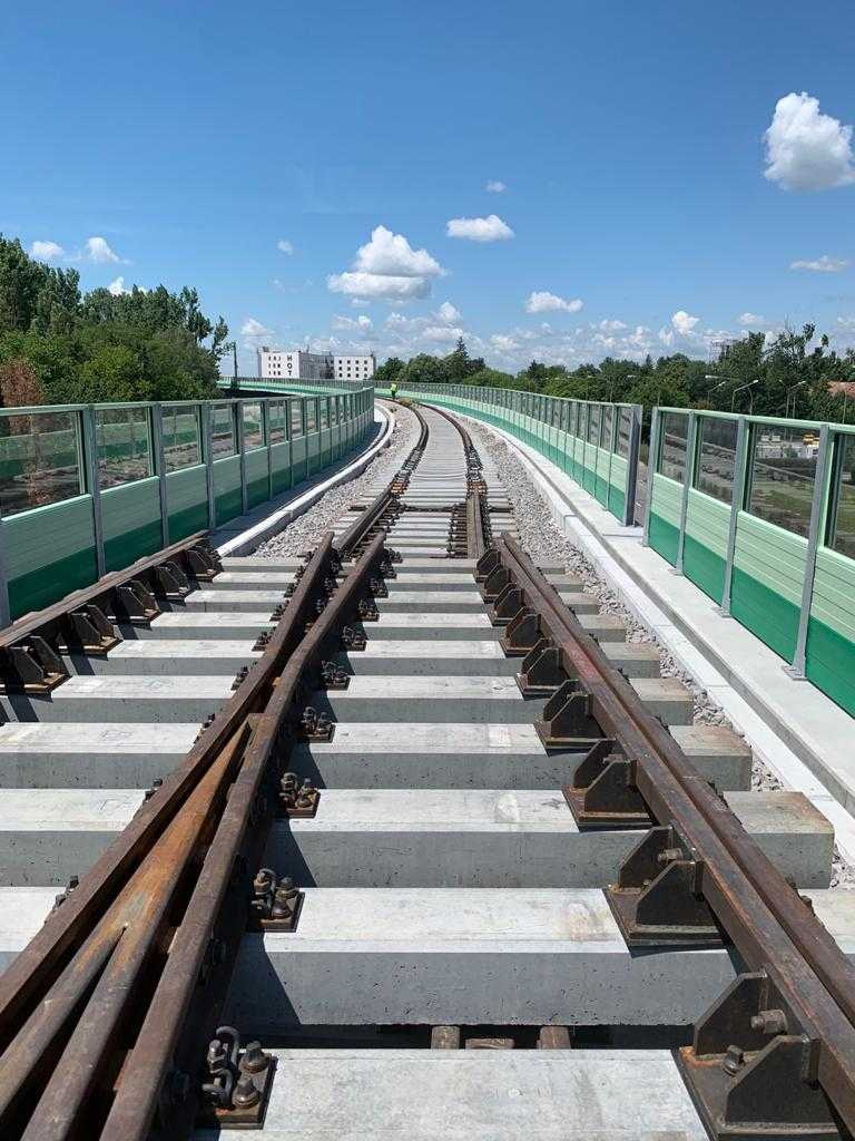 șinele la calea ferată de Otopeni