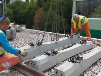 lucrările la linia ferată de Otopeni