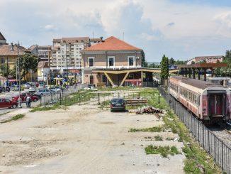 lucrări la Gara Sibiu