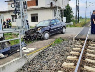 accidente la trecerea la nivel