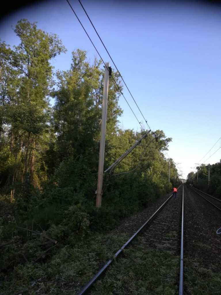 copaci prăbușiți pe calea ferată