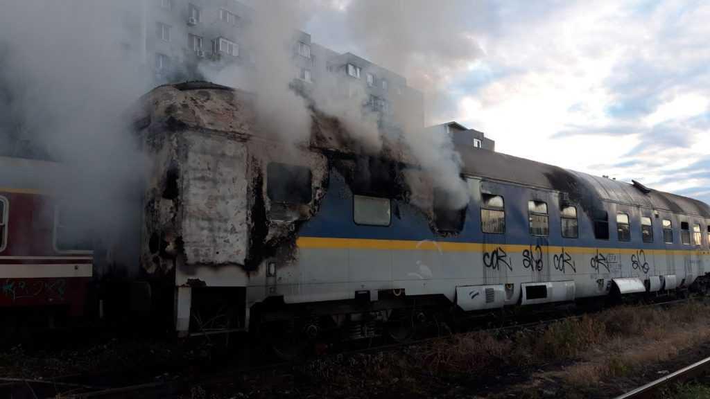 incendiu pe calea ferată