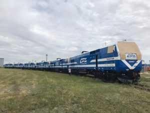 testarea locomotivelor noi ale CFM locomotive General Electric pentru CFM