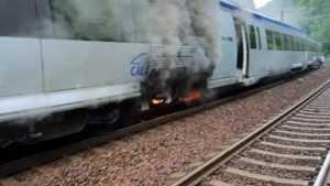 Regio Călători a luat foc