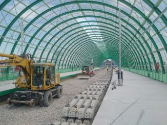 tren de test la Aeroportul Otopeni