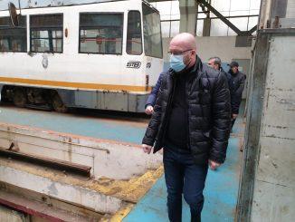 dezinfecție în tramvaie