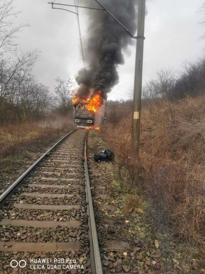 incendiu la locomotiva