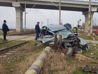 accident la trecerea la nivel