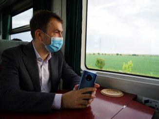 Cătălin Drulă a mers cu trenul