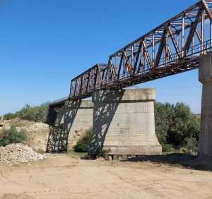 Vechiul pod Grădiștea lucrările la Gara Grădiștea