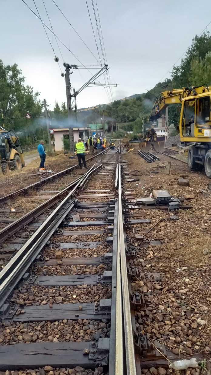 lucrări în gara Orșova